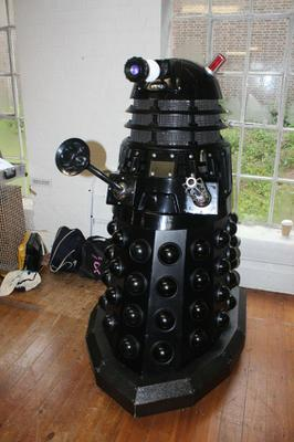 This full size Dalek was seen pushing through the crowds during the day