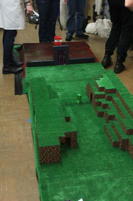 London Hackspace had built a complete Minecraft themed crazy golf game