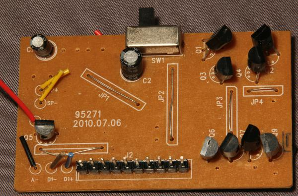 "Probably the most expensive part is the 0.1"" header, a pair of discrete H-bridges and a voltage regulator is all that you can see here."