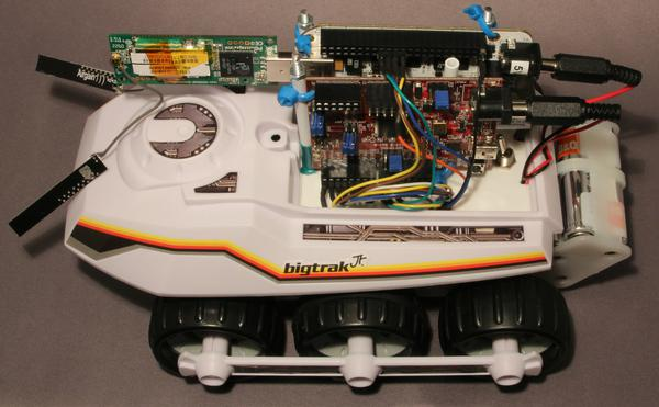 Overview of the fully assembled BigTrak project.