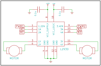 L293D application circuit diagram