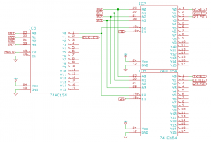 TTL decode logic schematic