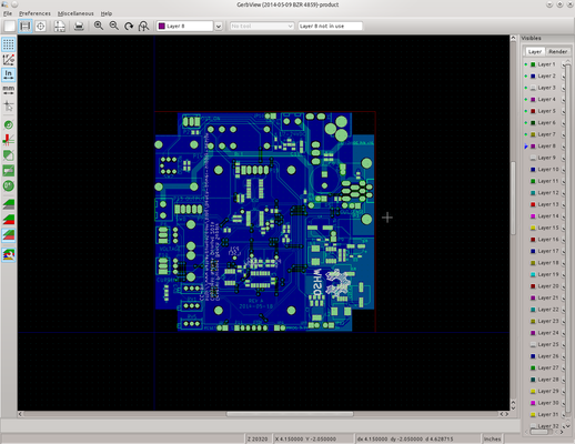 As you can see the gerber files don't have any silk screen outside the PCB.