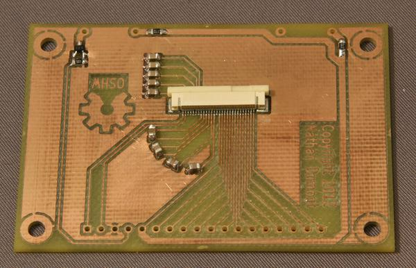 A fully populated breakout board.