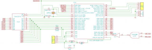 Schematic of a PIC based CPU-supervisor circuit