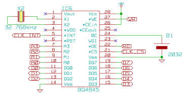 Schematic of the RTC chip in the Z80 project