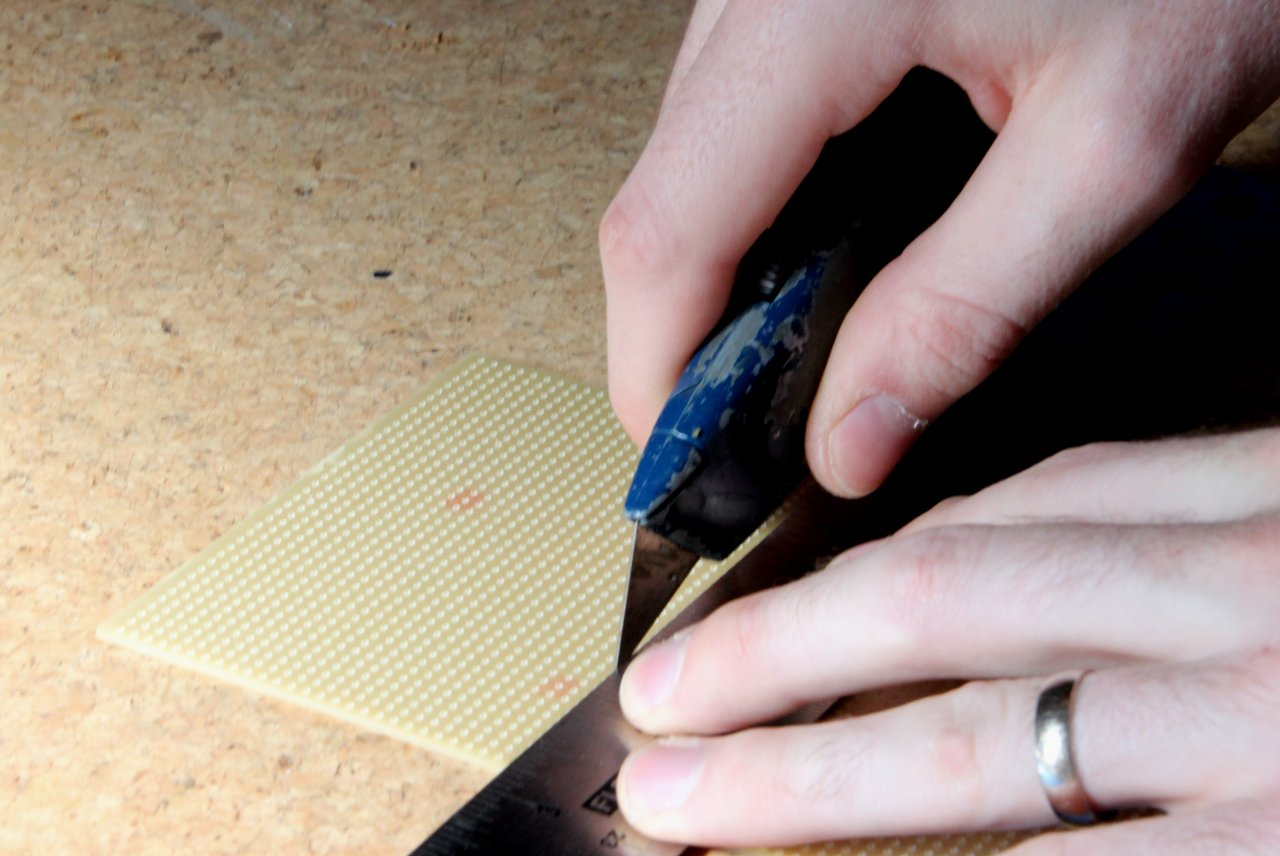 Stripboard Circuit Construction Board Cutter Images Of Use A Steel Ruler Good Knife And Cutting Mat Be Careful
