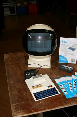 An incredible CRT monitor, a perfect match for the ZX80 aesthetic.