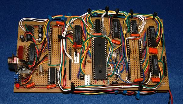 A stack of stripboard